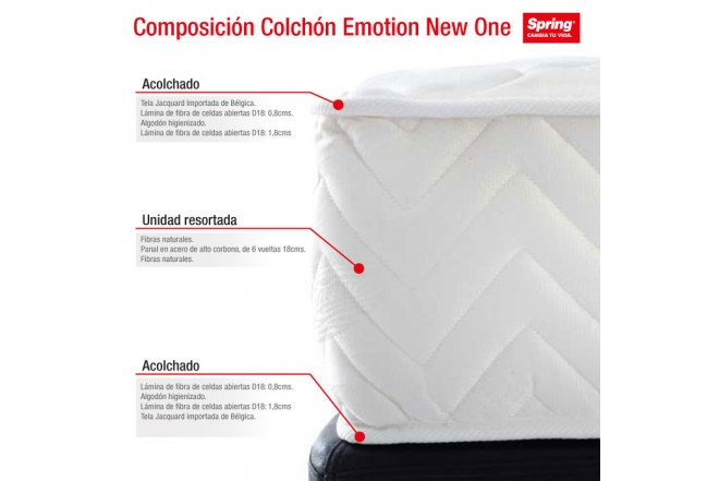 Colchón SPRING Emotion New One C Doble 140x190
