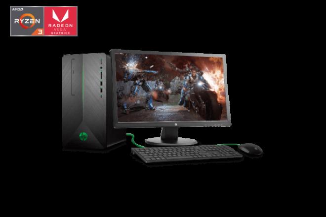 "Computador de Escritorio HP - 690-000bla - AMD Ryzen 3 - 24"" Pulgadas - Disco Duro 1Tb - Negro2"