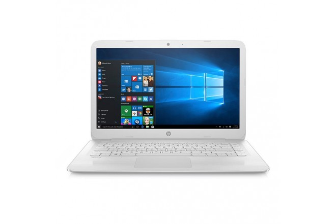 """Portátil HP AX022 Celeron 14"""" Blanco"""
