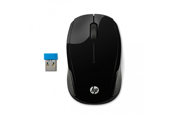 Mouse HP Inalámbrico Optico 200 Negro