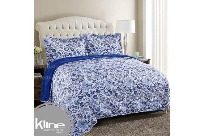 Edredón K-LINE Sencillo Coral Fleece Azul