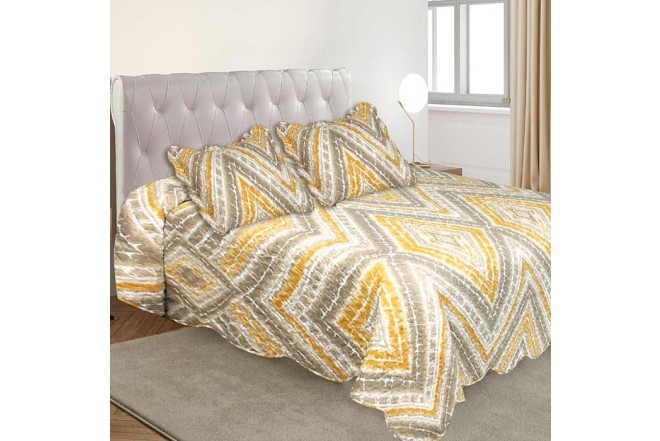 Cubrecama King K-LINE estampado Chevron
