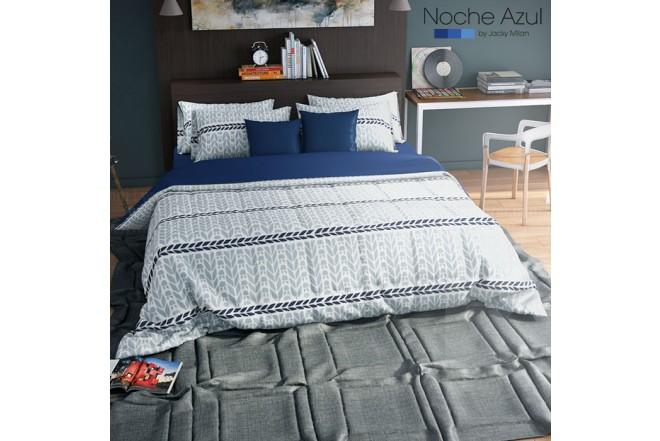 Comforter Extradoble NOCHE AZUL Danna Blue 144 Hilos