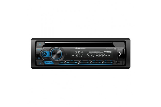 Radio Car Audio PIONEER 1Din con Bluetooth y unidad de CD DEH-S4250BT 1
