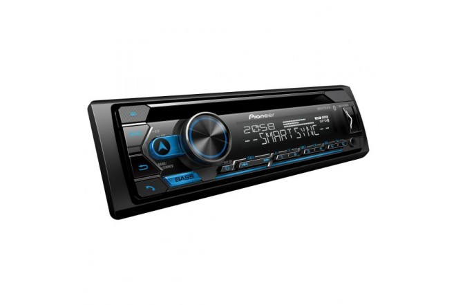 Radio Car Audio PIONEER 1Din con Bluetooth y unidad de CD DEH-S4250BT 2