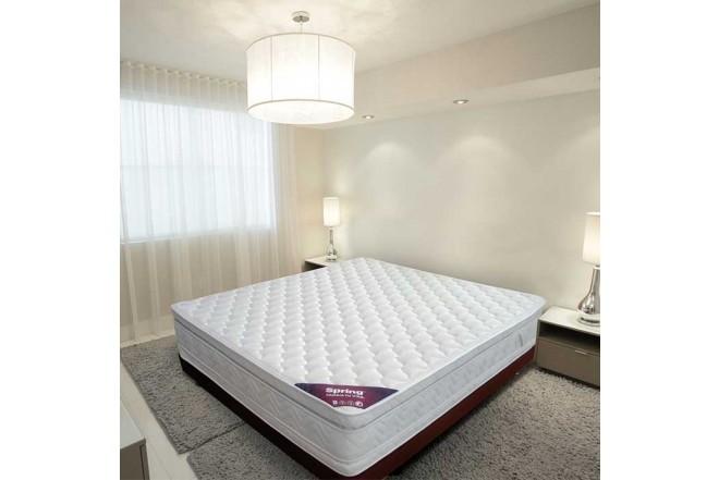 KOMBO SPRING: Colchón Resortado Sencillo Descanso Perfecto 100 x 190 cm + Base Cama Salin