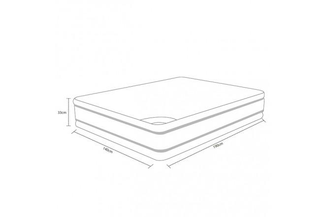 Colchón Resortado Doble SPRING Descanso Perfecto 140 x 190 cmm