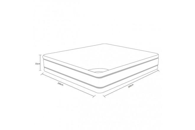 Colchón Resortado King SPRING Descanso Perfecto 200 x 200 cm