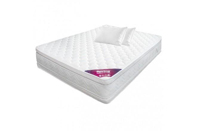 KOMBO SPRING: Colchón 140 x 190 Descanso Perfecto Doble + 2 Almohadas