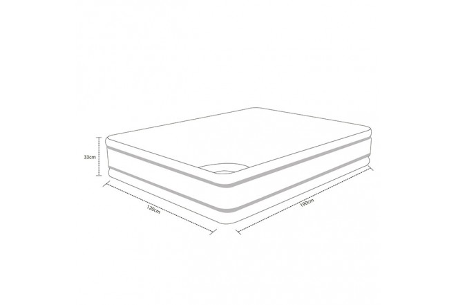 Colchón SPRING 120 x 190 cm Semidoble Descanso Perfecto
