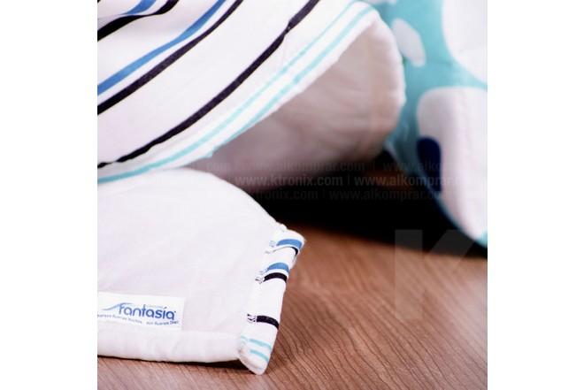 KOMBO FANTASÍA: Colchón Semidoble Blue Restek + Base cama + Kit de Lencería  120x190 cms