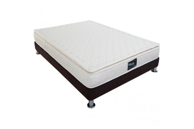KOMBO K-LINE: Colchón Resortado Semidoble Esencial Plus 120 x 190 cm + Base Cama