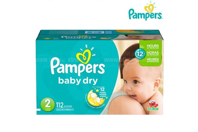 Pañal PAMPERS Baby Dry Etapa 2 Caja 112