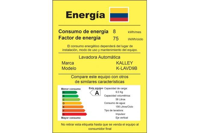 Lavadora KALLEY 9Kg KLAVD9B Blanco