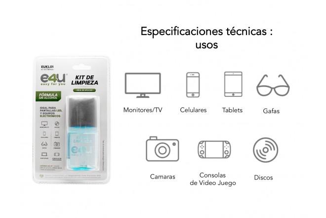 Kit Limpieza E4U Pantallas Paño