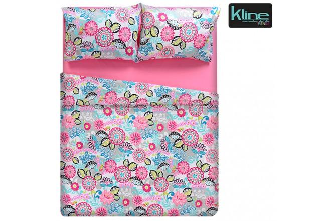Juego de cama K-LINE estampado flores semidoble