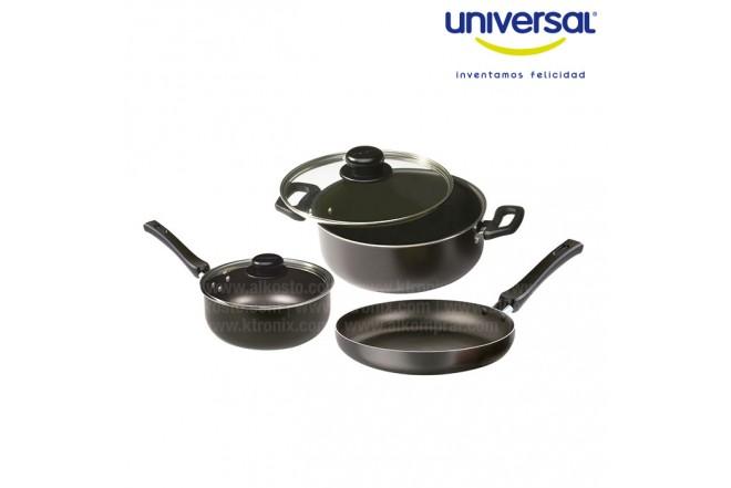 Kombo Juego de ollas  + licuadora Universal