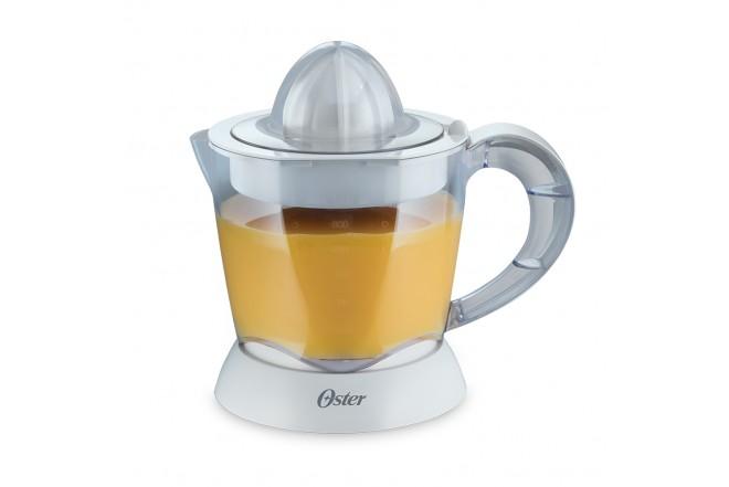 Combo Oster Cafetera 4 Tz Negra con filtro permanente + Exprimidor de Citricos Blanco Rotacion Bidireccional Incluye 2 conos.