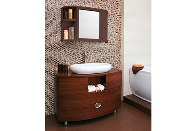 Gabinete para ba o rimax con espejo alkosto tienda online for Pared con espejos redondos