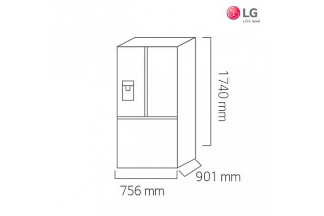 Nevecón LG 646 Lts GM-F223RSXM