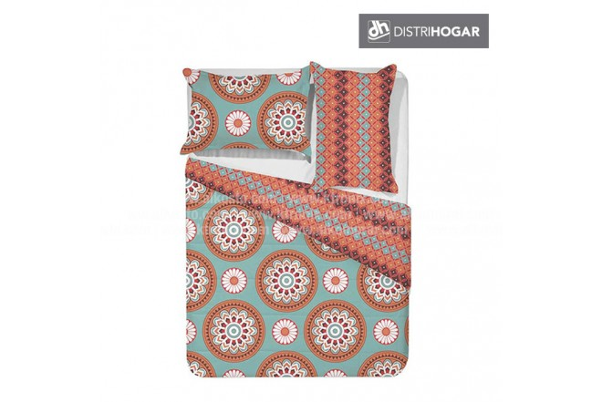 Comforter DISTRIHOGAR Estampado Doble HIPPIE