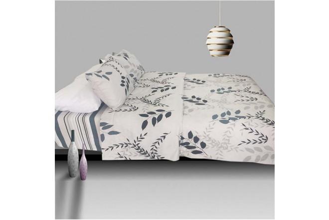 Juego de cama K-LINE Extradoble Estampado Hojas