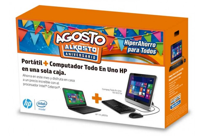 Combo PC All in One COMPAQ 4221 + Portátil HP 14-Y002