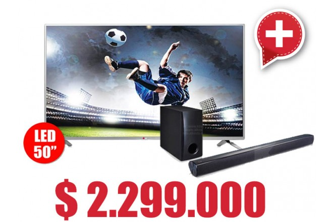 Compra Tv 50 127 cm LED LG 50LB650 Full HD 3D Internet y lleva gratis Sound Bar 120W LG NB2540