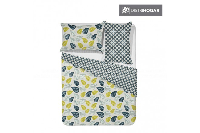 Comforter DISTRIHOGAR Estampado Doble LEAVES