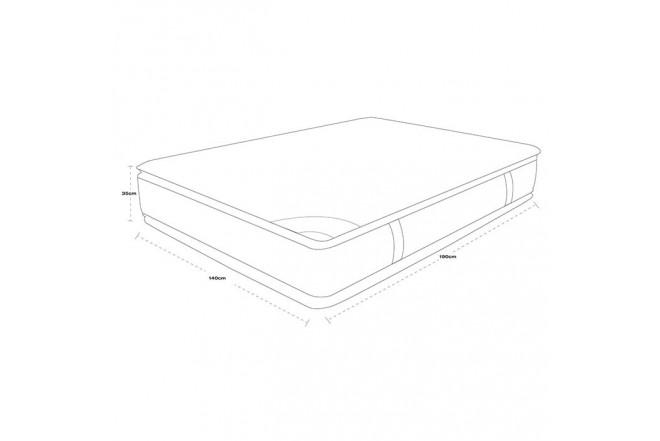 Colchón Resortado Doble SPRING New 5 140 x 190 cm