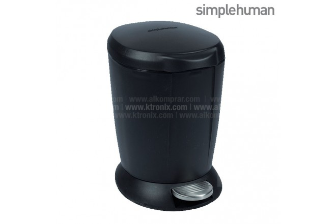 Basurero Con Pedal SIMPLE HUMAN Negro 6 Lt