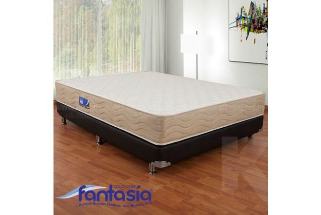 KOMBO FANTASÍA: Colchón Semidoble Marfil Restek 120x190 cms + Base cama