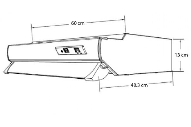 Campana extractora challenger 60 cx4200 inoxidable alkosto tienda online - Campana extractora medidas ...