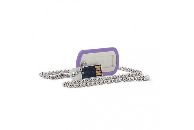Memoria VERBATIM USB 8GB Dog Tag Violeta
