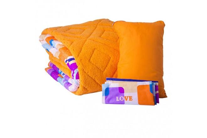 Comforter Estampado KAMUCHY Extradoble Ovejero Naranja