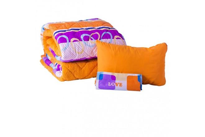 Comforter Estampado KAMUCHY Sencillo Ovejero Naranja