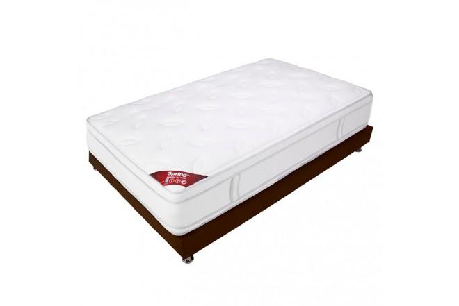 KOMBO SPRING: Colchón 140 x 190 New 7 + Base cama Salin Doble