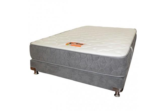 KOMBO ROMANCE RELAX: Colchón Espumado Sencillo Opalo 100 x 190 cm + Base Cama