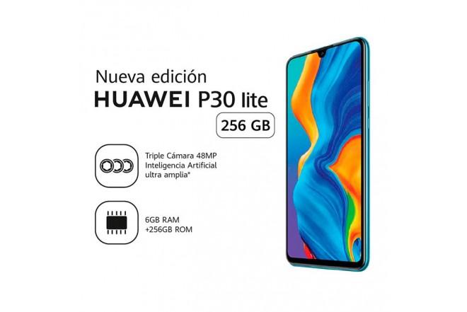 Celular HUAWEI P30 Lite 256G Azul Morado2