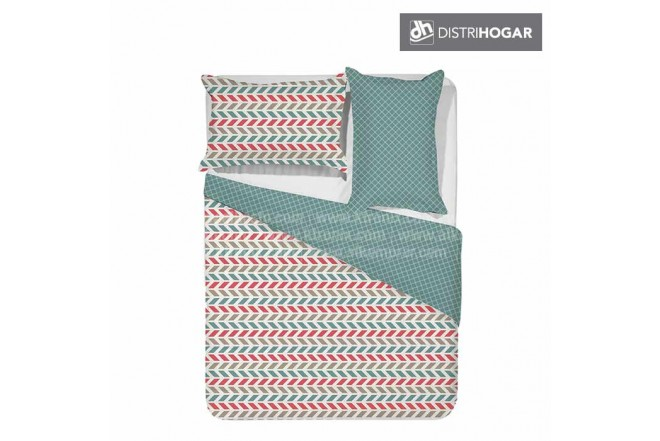 Comforter DISTRIHOGAR Estampado Doble PALET BLUE