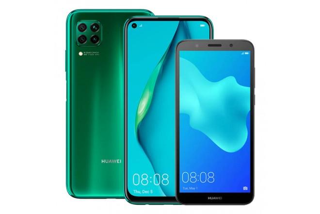 Combo Celular HUAWEI P40 Lite 128GB Verde (Crush Green) + Y5 2018_1