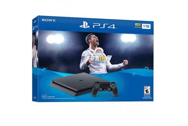 Consola PS4 1TB con Videojuego Fifa18-c