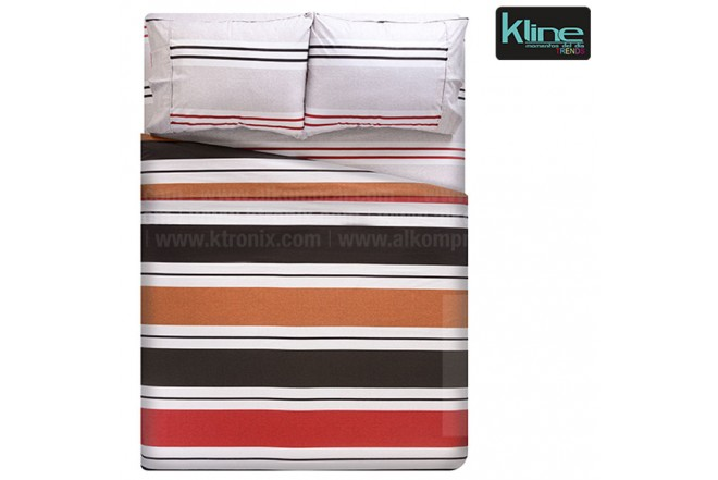 Juego de cama K-LINE estampado rayas semidoble