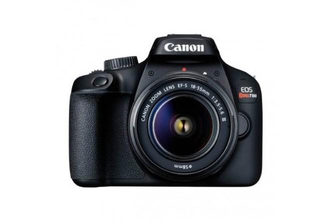 Cámara Fotográfica Profesional CANON EOS T100 EF-S 18-55 IS III Kit Negro-1