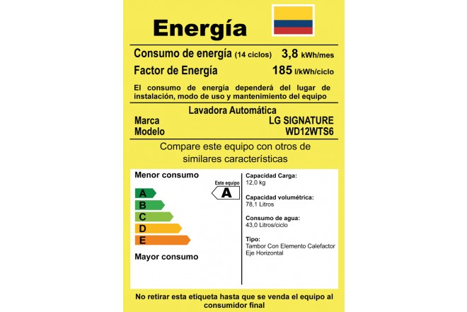 Combo Lavadora LG SIGNATURE WD12WTS6 + WD2100CW Blanco 11