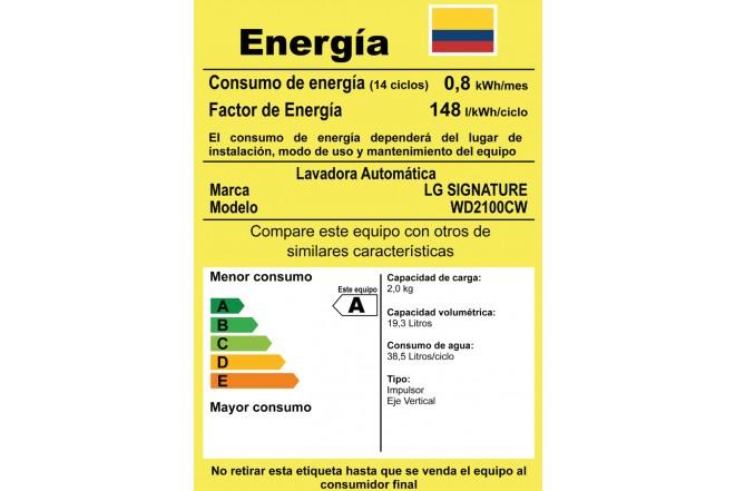 Combo Lavadora LG SIGNATURE WD12WTS6 + WD2100CW Blanco 12