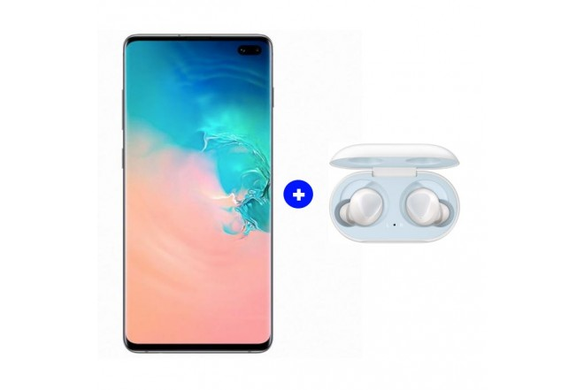 Celular SAMSUNG Galaxy S10 Plus DS 4G Blanco + Galaxy Buds