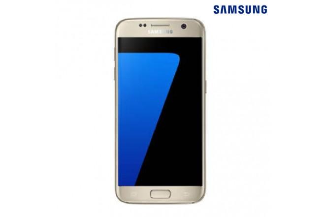 Celular Samsung S7 + Cargador + SD32 Dorado