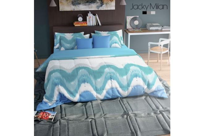 Conforter King JACKY MILAN SARAH AZUL 180 Hilos