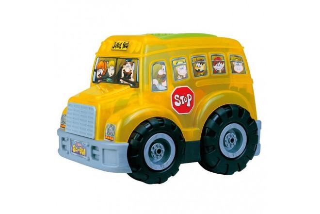 KYDOS Bus Escolar con Bloques de Armar de 50 Piezas